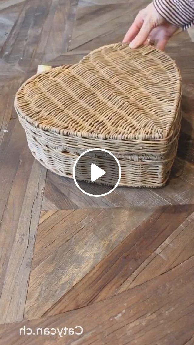 Lovely Storage Baskets - Video & GIFs   home interior, interior design living room, wicker baskets, wicker tray, storage baskets, rattan, interior inspiration, office, corridor