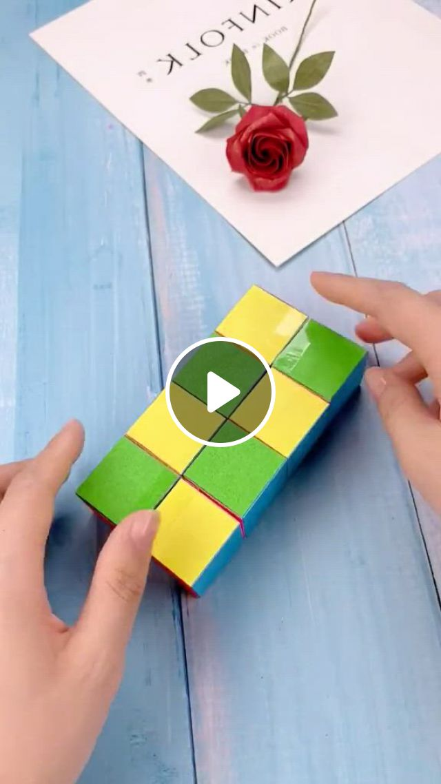 DIY Magic Cube - Video & GIFs   origami crafts diy, paper crafts diy kids, paper crafts diy tutorials, diy crafts hacks, easy diy crafts, diy crafts videos, diy crafts to sell, paper folding crafts, cool paper crafts, paper crafts origami, origami easy, diy crafts for teen girls