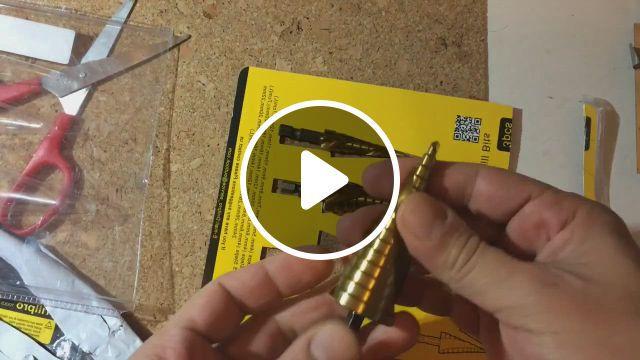 HSS Spiral Titanium Step Cone Drills - Video & GIFs | lw tools, piral groove, drill bits, ocgig
