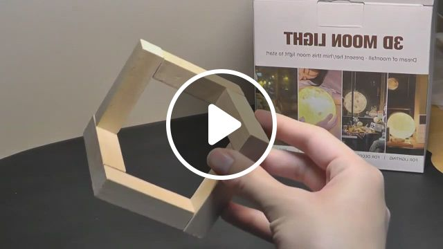 REVIEW 3D Moon Lamp Cool LED Mood Light W. 16 Colors - Video & GIFs   night light, mood light, light, white led lights, white light, 3d printing technology, white lead, cool toys, party supplies, glow