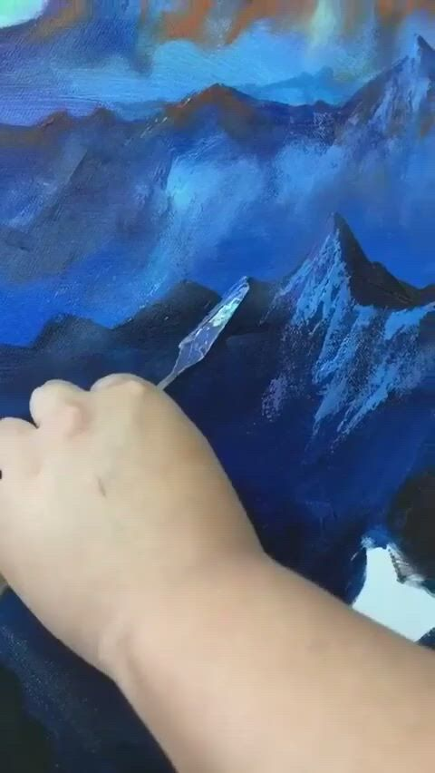 So beautiful mountains oil painting tutorial - Video & GIFs   landscape art,diy canvas art painting,painting art lesson,easy canvas art,small canvas art,landscape paintings,art oil paintings,oil painting abstract,acrylic painting canvas,painting art,mountain paintings