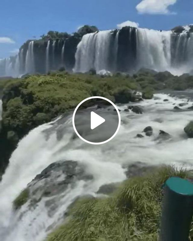 Iguacu Waterfalls Brazil - Video & GIFs   waterfall, places to travel, flipper, pop culture news, mother earth, the good place, scenery, waterfalls