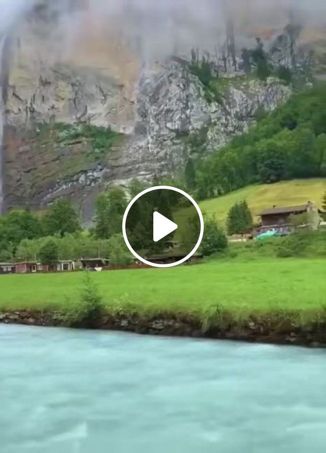 Lauterbrunnen Valley, Switzerland - Video & GIFs   beautiful places nature, cool places to visit, beautiful places to travel, beautiful landscapes, future travel, amazing adventures, science and nature, places around the world, vacation spots