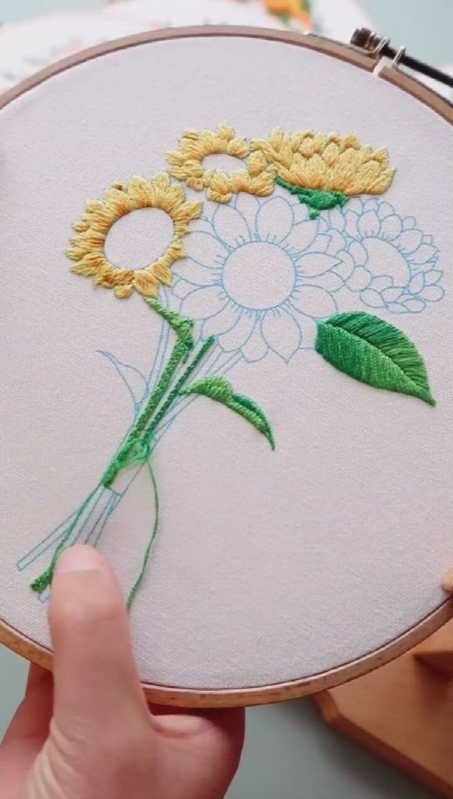 Beautiful embroidery art Chrysanthemum - Video & GIFs   hand embroidery patterns free,embroidery stitches beginner,embroidery art,wedding embroidery,hand embroidery art,embroidery flowers pattern,creative embroidery,embroidery monogram,modern embroidery,new embroidery designs,advanced embroidery