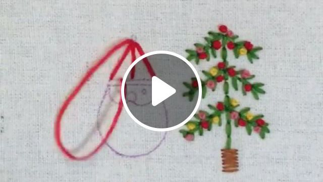 Embroidery Art Christmas - Video & GIFs   embroidery art, hand embroidery, christmas embroidery, embroidery patterns, crochet patterns, embroidered bird, simple christmas, tis the season, projects to try, seasons