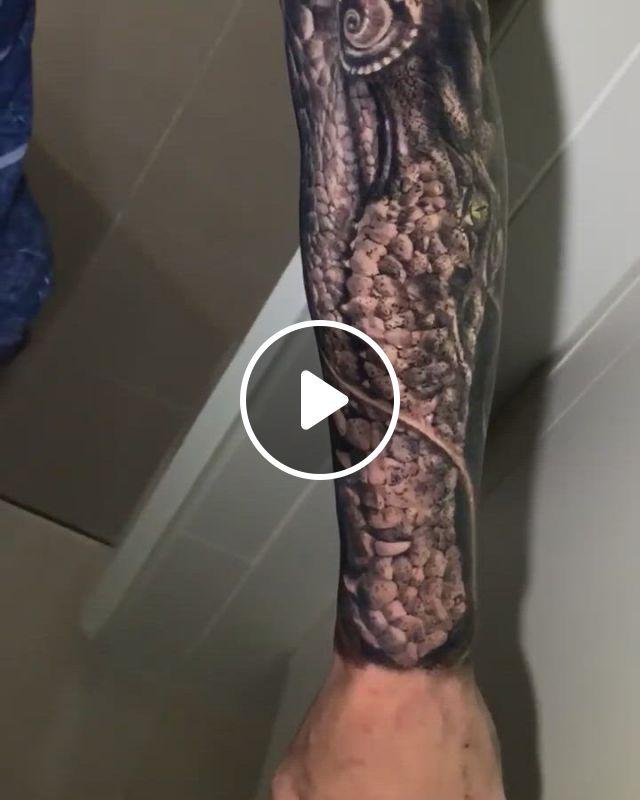 Black And Grey Sleeve Tattoo - Video & GIFs | tattoos, australian tattoo, tattoo artists