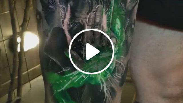 Doctor Strange Tattoo In Leg - Video & GIFs | weird tattoos, tattoo videos, australian tattoo, body art tattoos, professional tattoo, doctor strange, perth, tattoo artists