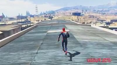 Gta v spiderman jumps falls euphoria physics funny fails ragdolls - Video & GIFs | funny gifs fails,fandom funny,funny fails,fail ,power rangers,gta,physics,spiderman,hilarious,fandoms,awesome
