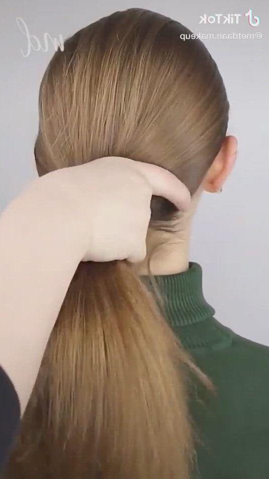 Easy braided hairbun