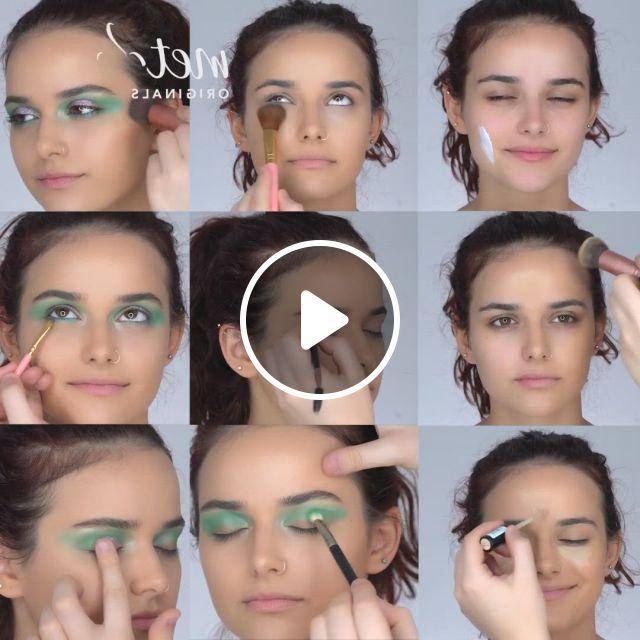 Fun Night Out Makeup Tutorial - Video & GIFs   makeup tutorial, lip care routine, hair hacks, mime makeup, makeup lipstick, hair makeup, halloween makeup, eyes lips face, face skin care, homemade skin care, no foundation makeup, makeup designs