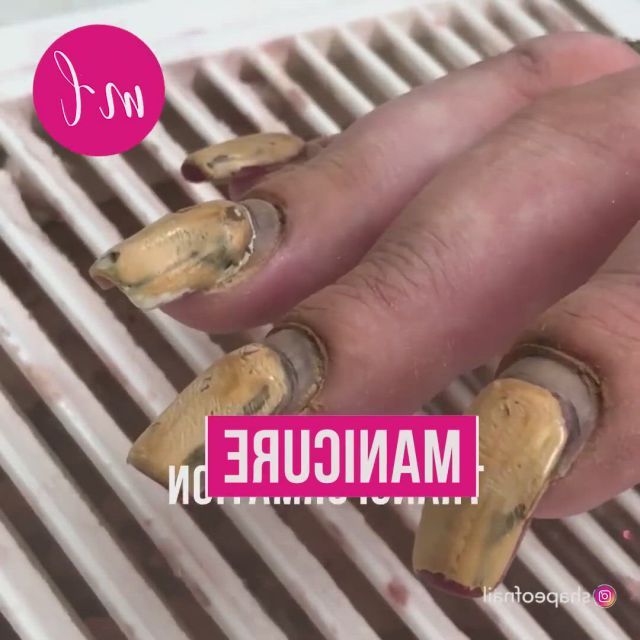 Manicure transformation - Video & GIFs   nail art designs ,acrylic nails at home,manicure,new nail art,nail designs,manicure y pedicure,tips belleza,hair transformation,skin tips,trendy nails