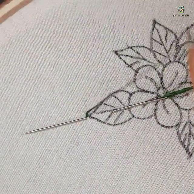 Hand embroidery all over design for dress - Video & GIFs | boncuk nakış desenleri,boncuklu nakış,crewel embroidery,hand embroidery patterns flowers,basic embroidery stitches,hand embroidery,embroidery stitches tutorial,creative embroidery,simple embroidery,hand embroidery stitches,hand embroidery designs,beaded embroidery