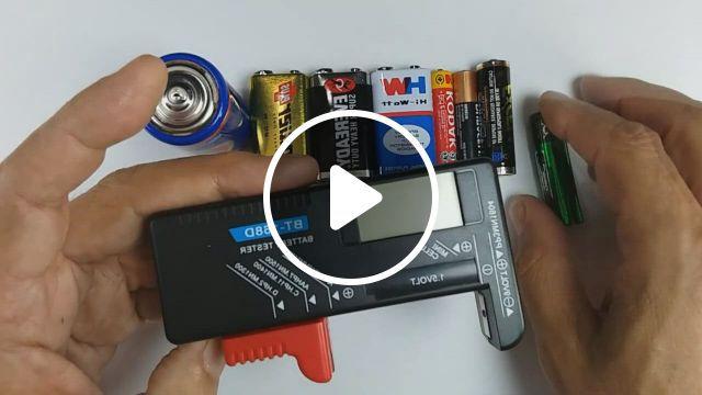 Universal Digital Button Cell Battery Volt Tester - Video & GIFs   button cell, cell, digital, battery sizes, phone accessories, party supplies, miniature, usb, the unit, buttons