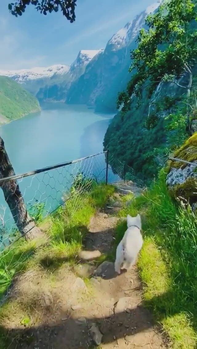 Bajas and I waking down from the mountains in Norway