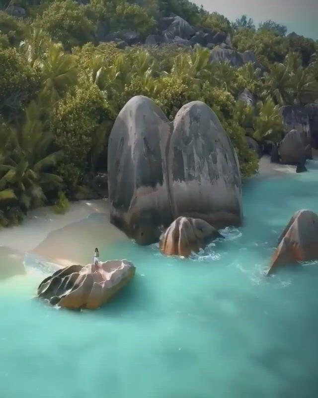 Hidden Beaches at La Digue, Seychelles