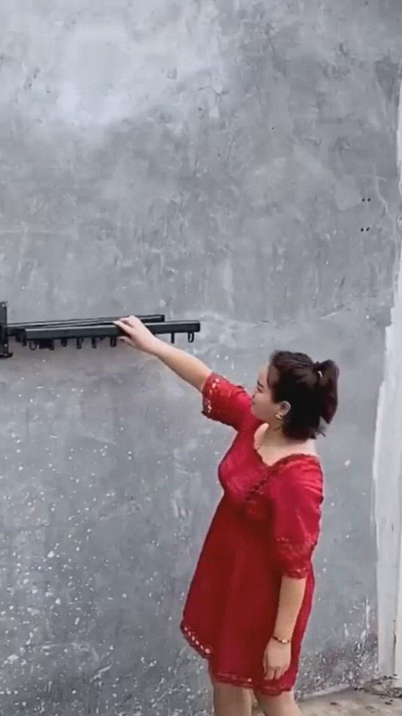 Bakala wall mounted spacesaver - Video & GIFs   clothes drying racks,home room design,smart home design