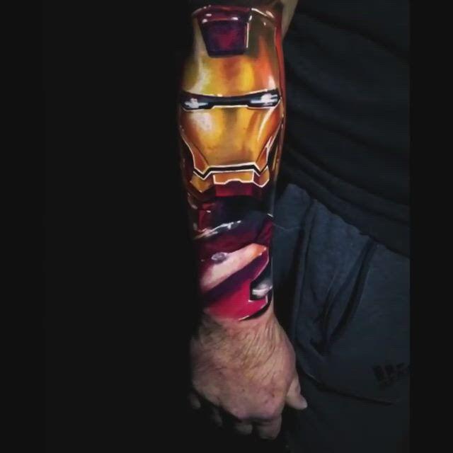 Iron man sleeve tattoo