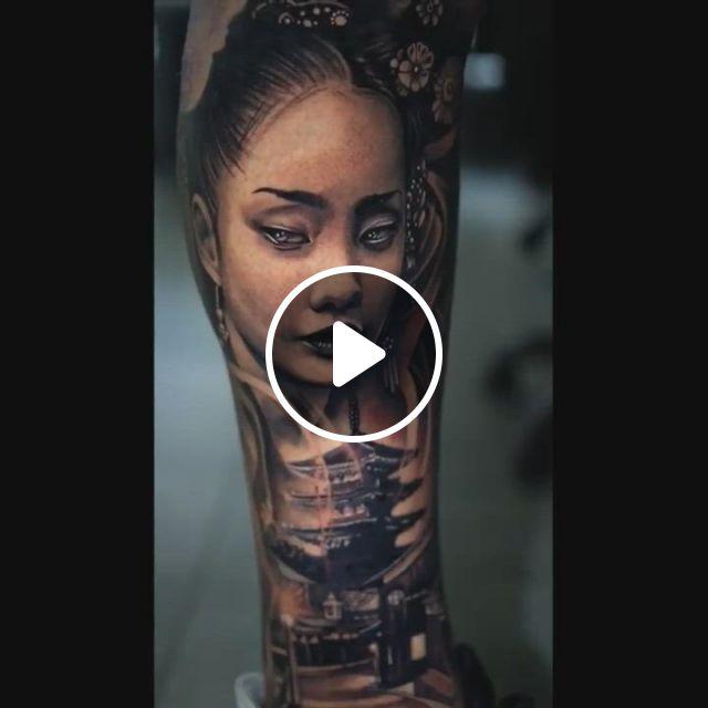 Japanese Tattoo In Leg - Video & GIFs   tattoos, japanese tattoo, australian tattoo, tattoo artists, japanese, studio, study, japanese language, tattoo, studios