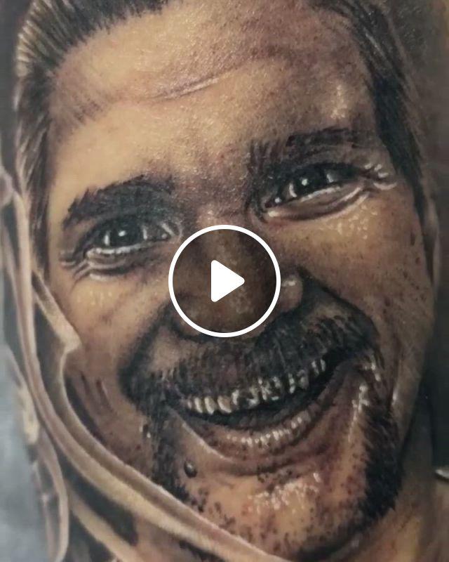 Portrait Tattoo - Video & GIFs   australian tattoo, portrait tattoo, tattoo artists, tattoo studio, perth, sleeve tattoos, halloween face makeup, portrait, instagram, tattoo sleeves