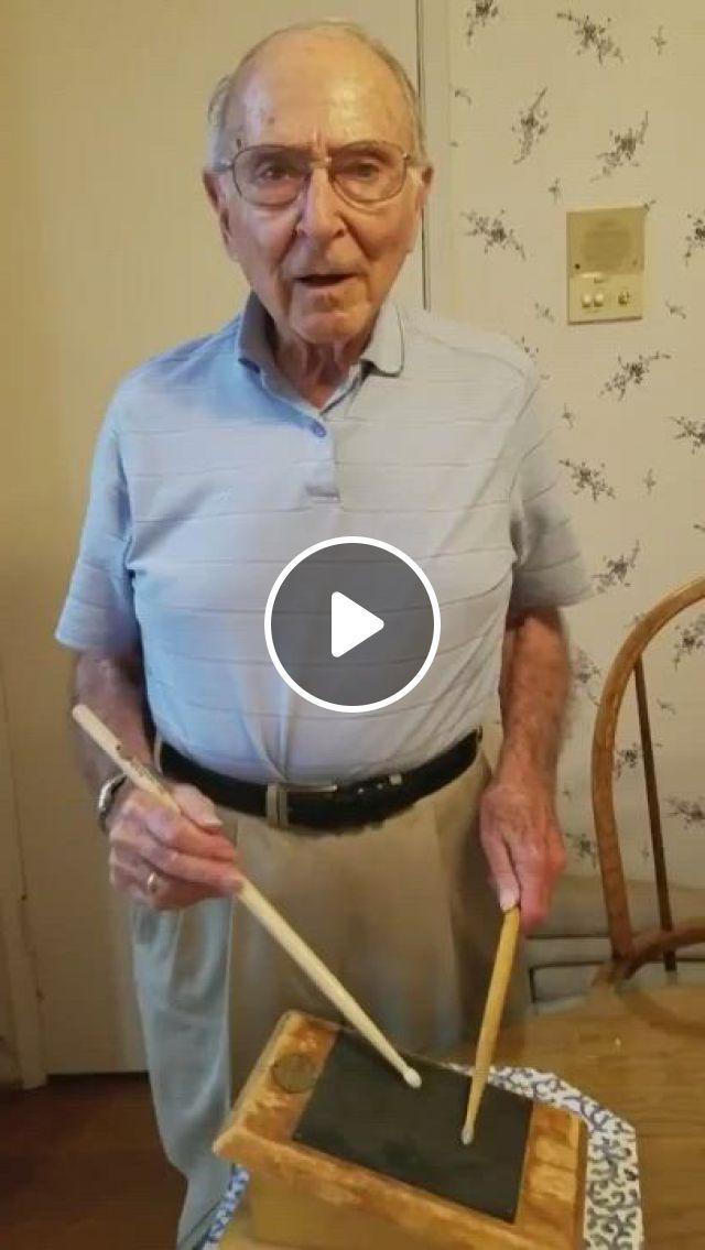 88 YO Still Shredding It On The Practice Pad - Video & GIFs   modern drummer, funny gifs, albuquerque