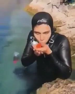 By the fish that wants to be picked up
