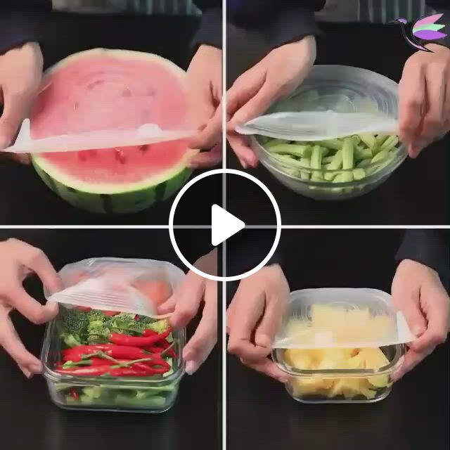 Stretch And Seal Lids - Video & GIFs   gadgets kitchen cooking, kitchen gadgets, cooking gadgets, cool kitchen gadgets, kitchen items, cool kitchens, kitchen tools, kitchen gifts, diy kitchen, kitchen decor, cooking tips