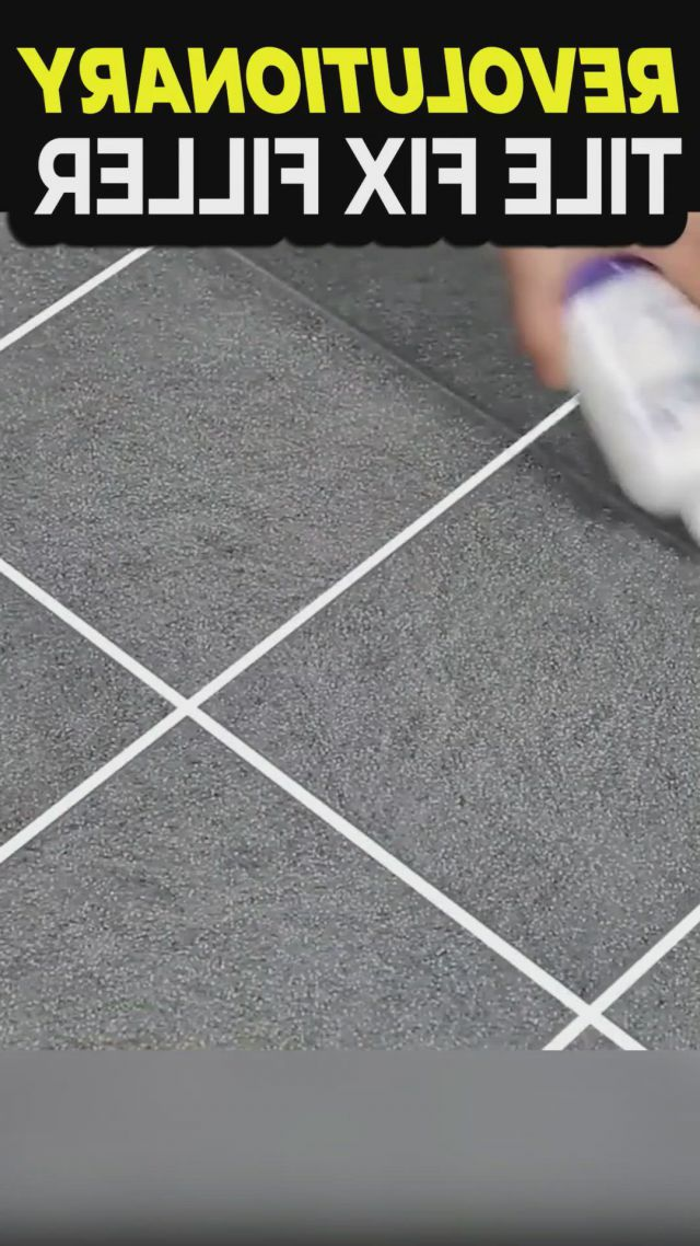Universal tile gap filler and repair - Video & GIFs | diy home cleaning,house cleaning tips,cleaning hacks,spring cleaning,tile filler,diy home repair,home repairs,diy home crafts,diy home improvement