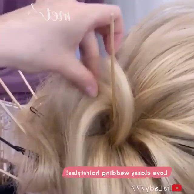 WEDDING HAIRSTYLES - Video & GIFs   steckfrisuren,frisuren,classy hairstyles,wedding hairstyles,bridesmaid hair,bridal hair,ear,hair styles,fashion,makeup,moda