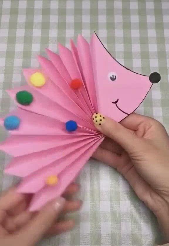 Paper crafts for kids free printable paper hedgehog templates