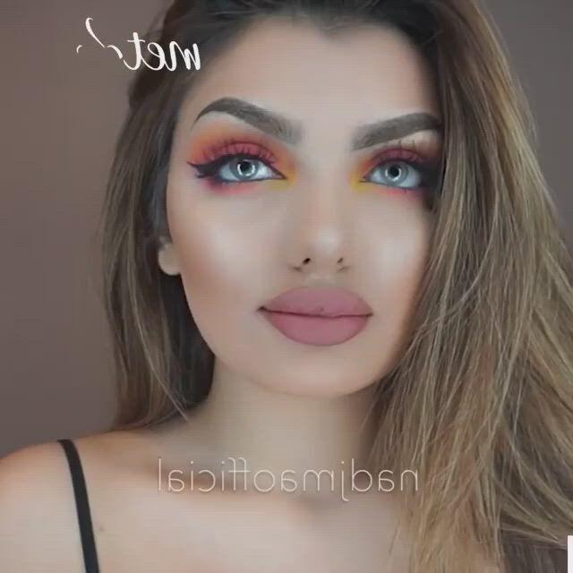 Colorful look - Video & GIFs   show makeup,first date makeup,dramatic makeup,style hair,lifehacks,beauty ideas,diy art,inventions,manual,diys,halloween face makeup,ootd