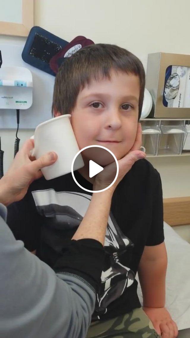 Ear Tube Lavage Extraction - Video & GIFs | kids , ear tubes, cute babies, brave, haha, funny stuff, funny memes, boys