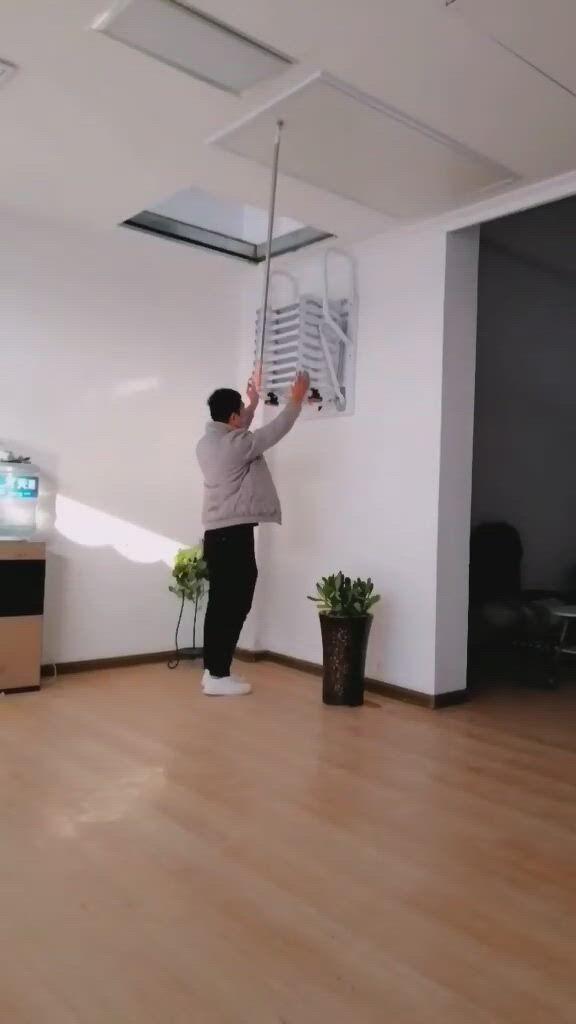 Attic Ladder - Video & GIFs   target inspired home decor,attic ladder,storage and organization