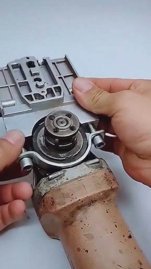 DIY Electric Chainsaw Transfer Angle Grinder Conversion Head Bracket Set