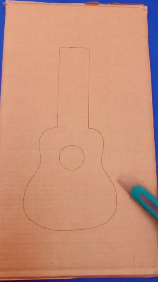 Cardboard guitar toy for kids