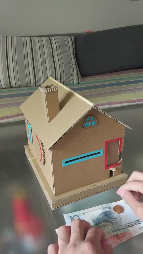 Make a Cardboard House to Saves Money