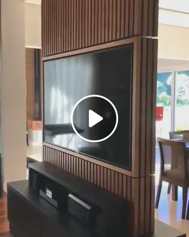 On Sale Mixoryshop - Video & GIFs   tv wall unit, tv room design, wall mounted tv, tv wall design, house design, wood design, tv wall panel, drawing room furniture, tv stand designs, tv unit, living room designs