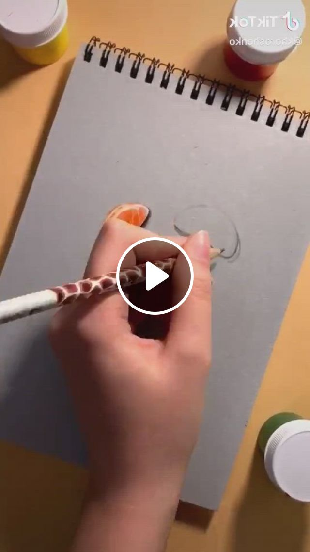 Orange Drawing Art - Video & GIFs | amazing art painting, chalk pastel art, pencil art drawings, sketchbook drawings, art sketches, chalk pastels, amazing paintings, amazing art, artist problems, how to draw steps
