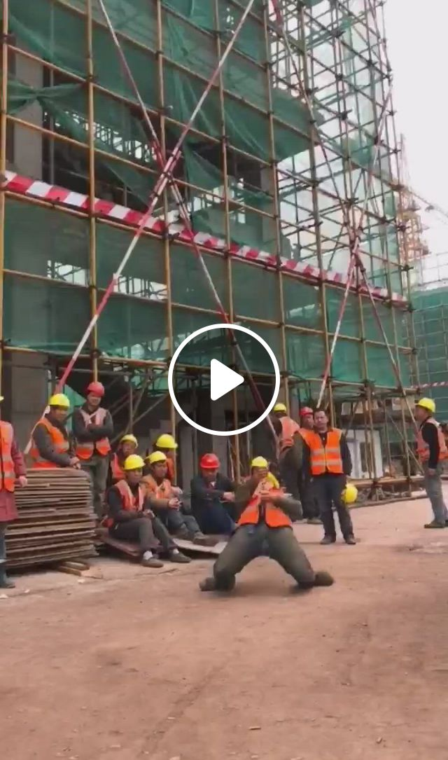 Chinese Construction Worker Show Cases His Dancing Skill - Video & GIFs | cool dance moves, funny dance moves, dance choreography , dance tips, dance , funny memes, really funny memes, funny grumpy cat memes, funny jokes