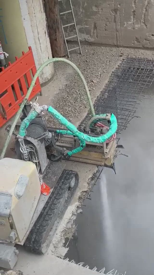 Water jet to demolish concrete german - Video & GIFs   construction tools,structural engineering,brick architecture