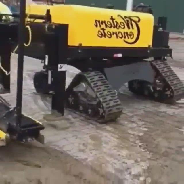 Western concrete new laser screed machine