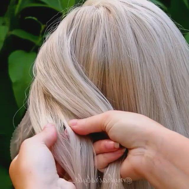 Cute hair braid - Video & GIFs | haircuts for curly hair,hair styles,cute hairstyles,braided hairstyles,hairstyles 2018,hairdos,barbie hairstyle,style hairstyle,wedding hairstyle,hair style image man