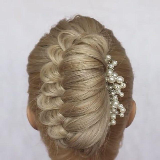 Cute wedding hairstyle - Video & GIFs | gents hair style,hair up styles,hair braid ,easy hairstyles,girl hairstyles,hairstyle men,style hairstyle,hairstyles 2018,medium hair styles