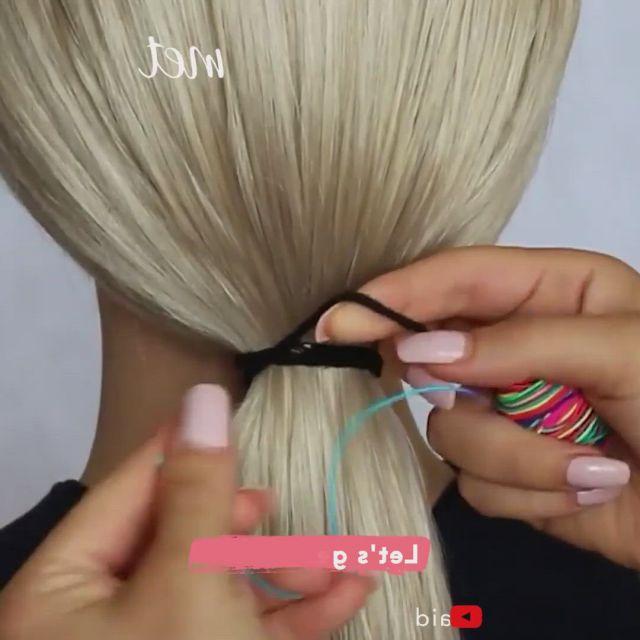 Rainbow ponytail