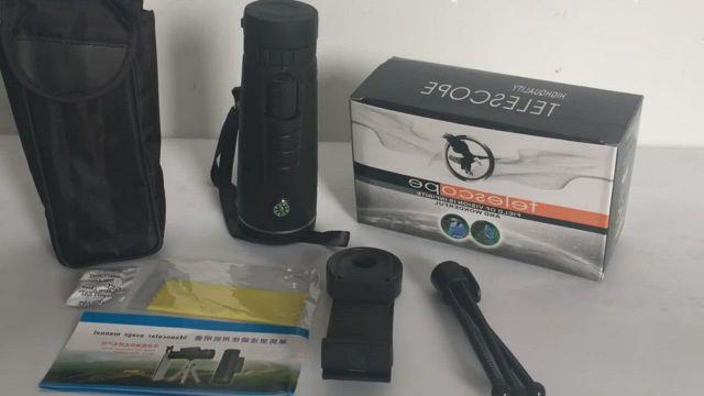 40X60 Mini Monocular Telescope Binoculars with Compass Phone Clip Tripod - Video & GIFs   monoculars,telescope,high contrast images,hd vision,phone clip,tripod,compass,binoculars,distance,hunting