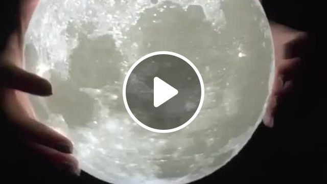 Rechargeable Touch Switch 3D Moon Lamp Night Light - Video & GIFs | lamp, night light, moon