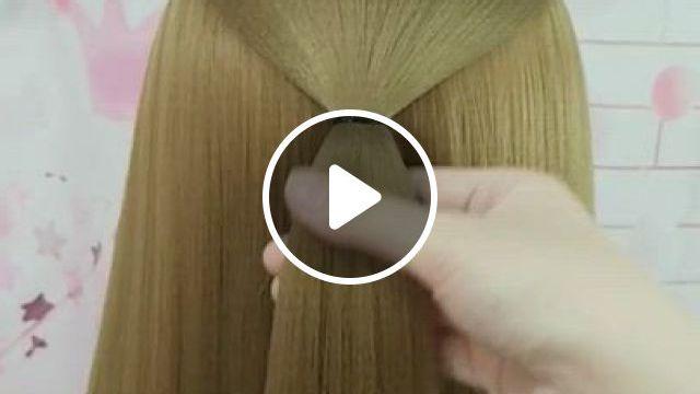 Hairstyle Tutorial 69 - Video & GIFs | hair streaks, hair highlights, braided hairstyles, wedding hairstyles, long hair, girl short hair, light brown hair, hair, human hair wigs