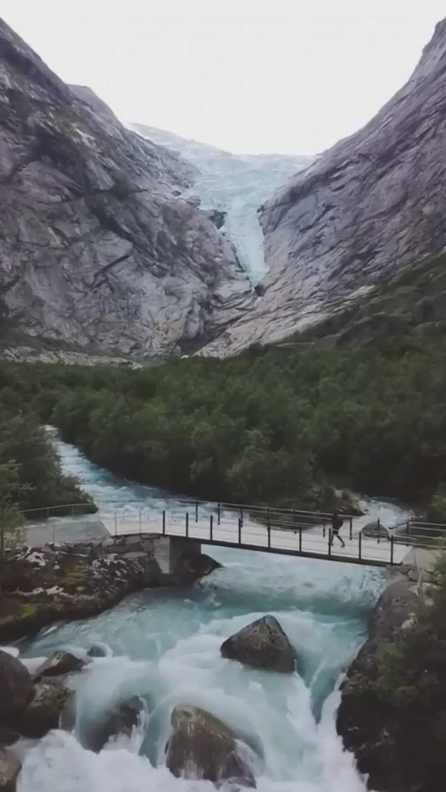 Briksdalsbreen is one of the most accessible and best known arms of the Jostedalsbreen glacier