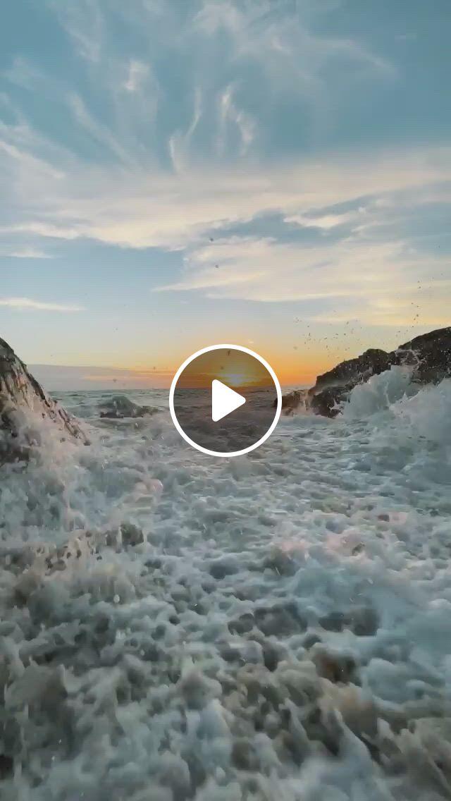 Sunset Meditation - Video & GIFs | beautiful nature scenes, sunrises nature, beautiful places nature, amazing nature, beautiful ocean, ocean wave sounds, ocean waves, beautiful landscapes
