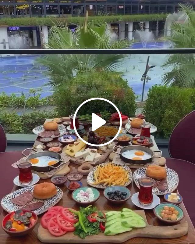 Turkish Breakfast - Video & GIFs | turkey , honey mustard recipes, turkish breakfast, mosque architecture, amazing sunsets