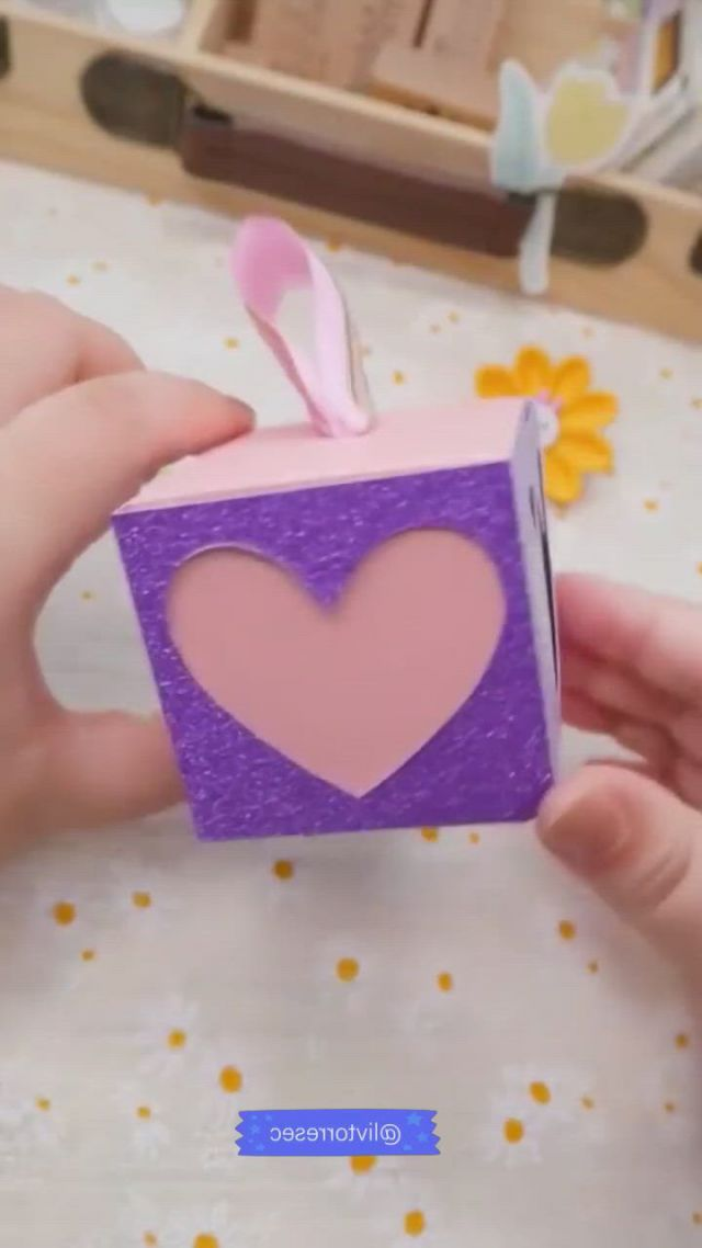 Diy heart box - Video & GIFs | artesanatos faceis,caixas artesanais,presentes artesanais